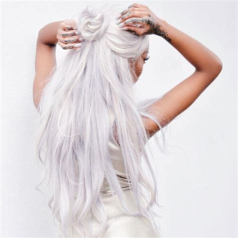 And White Hair by White Hair Dye How To Dye Your Hair White