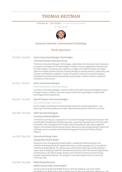 senior instructional designer resume samples templates