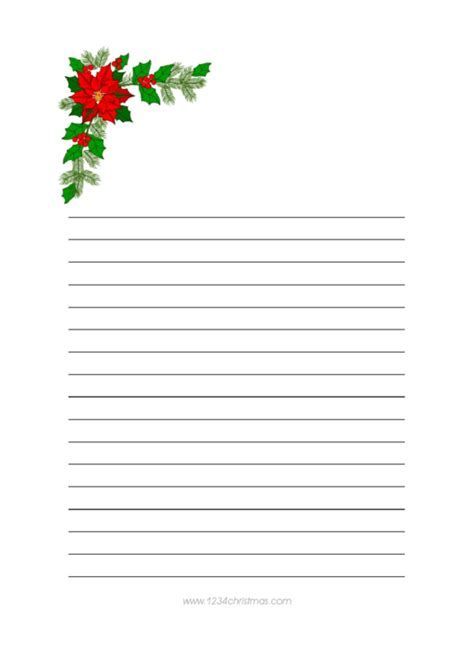 christmas tree branch writing paper template printable