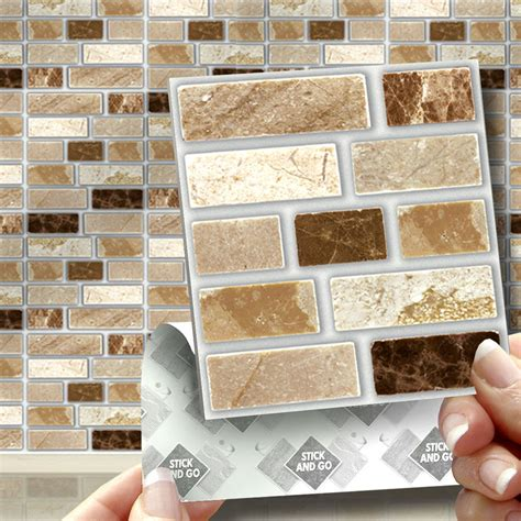 faience cuisine adhesive 18 peel stick go tablet self adhesive wall tiles