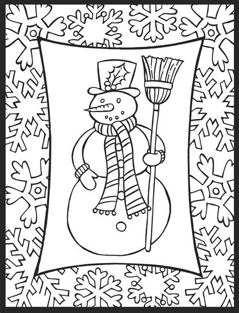 december coloring pages    print