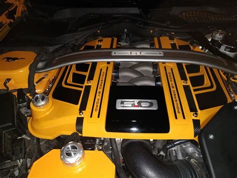 ford mustang painted gt engine plenum cover