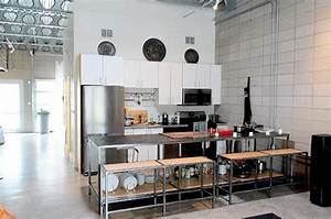 White industrial kitchen for Industrial home kitchen design