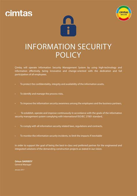 cimtas information security policy