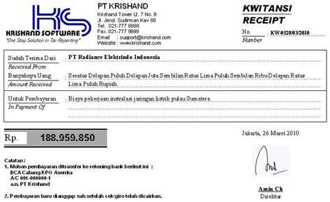 Toko Teknik Malang Software Program Krishand Kwitansi Cetak Bukti