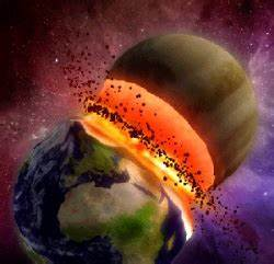 Earth's Planets Crashing - Pics about space