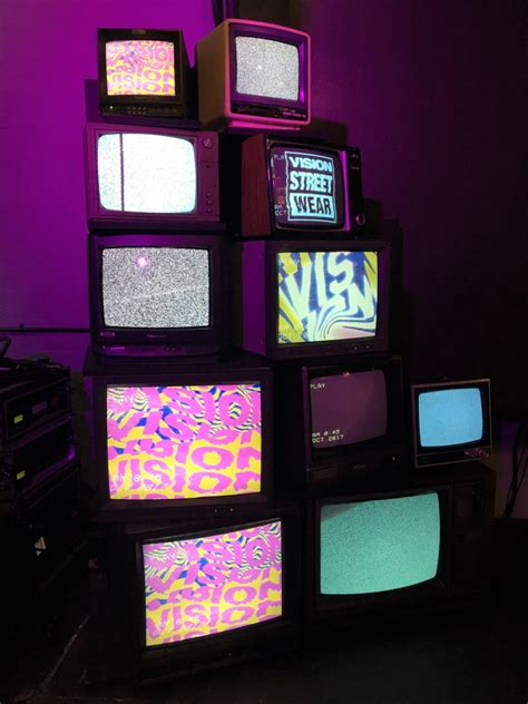 prop hire vintage tv stack mtv  week