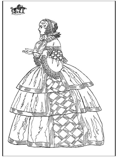 Jurk Kleurplaat by Klassieke Jurk Kleurplaten Middeleeuwen