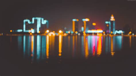 wallpaper blur bokeh city night   architecture