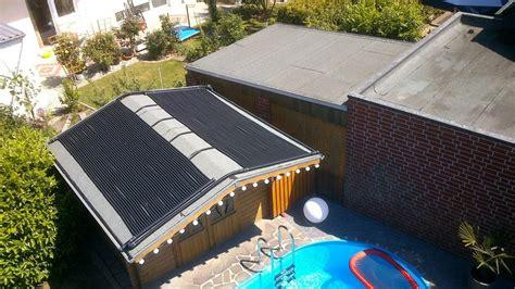 Heizung Für Garage Selber Bauen by Solar Poolheizung Auf Gartenhaus 2 X 1 5m X 3 66m