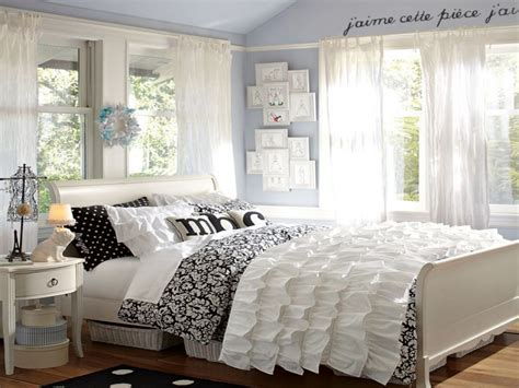 Stylish Bedroom, Black And White Teen Bedroom Black And