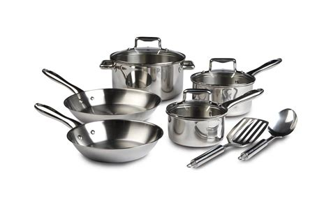 discounted  fal performance stainless steel copper bottom cookware  piece set