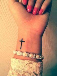 Wrist Tattoo Crown tatuajes de cruz en la muneca tatuajes tattoos 225 x 300 · jpeg