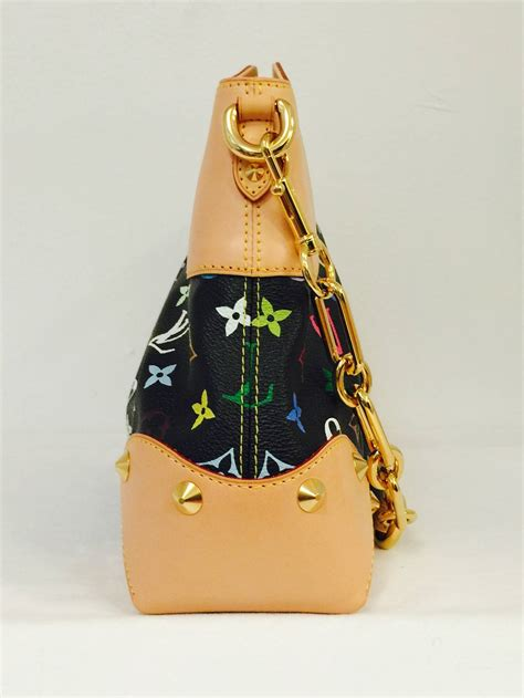 louis vuitton black judy mm murakami multicolore monogram bag  stdibs