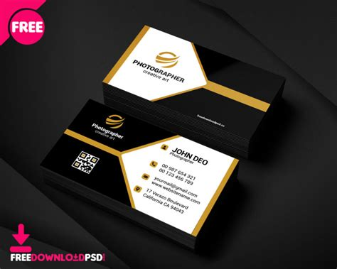 sample photography business card freedownloadpsdcom