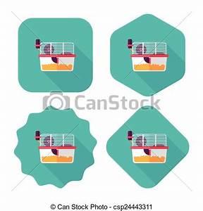 Maus In Wohnung : vektor clip art von haustier maus k fig wohnung ikone langer schatten csp24443311 ~ Markanthonyermac.com Haus und Dekorationen