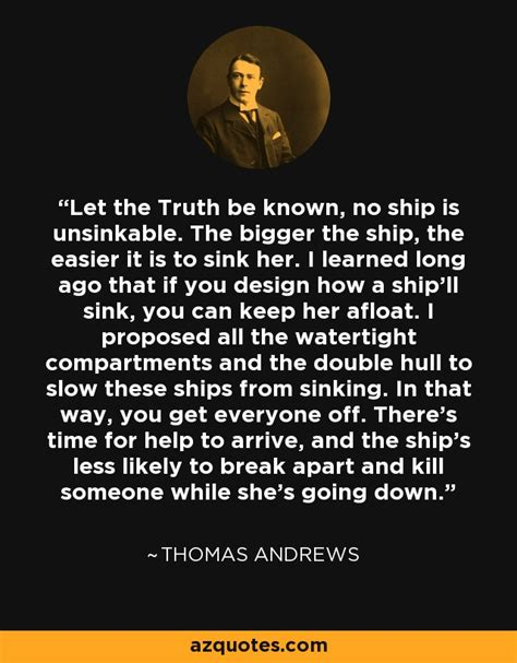 thomas andrews quote   truth    ship
