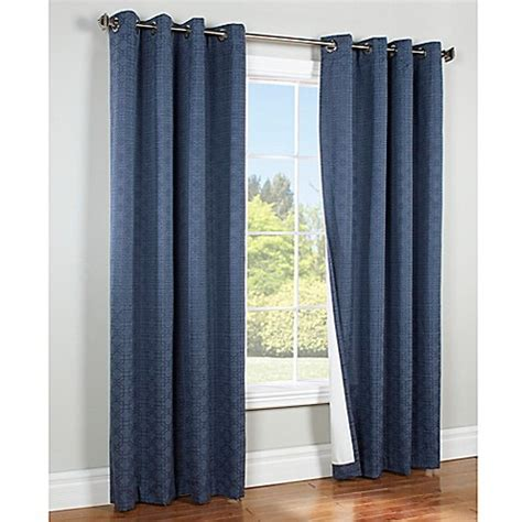 bed bath and beyond blackout drapes irongate insulated blackout grommet top window curtain