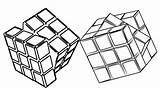 Cube Coloring Rubiks Minecraft Rubik Imaginative Children sketch template