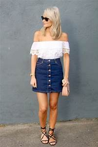 Jeans Skirt Outfit Pinterest