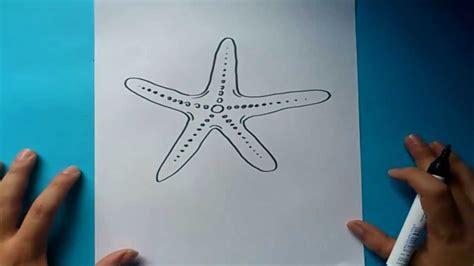 como dibujar una estrella de mar paso  paso   draw