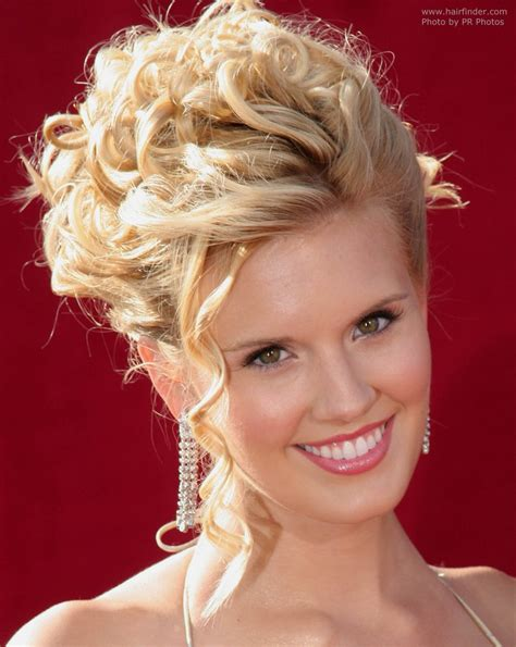 Hairstyles In by Maggie Grace With Hair In An Updo With Tendrils And