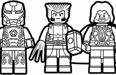 Lego Coloring Pages Marvel Printable Adults Avengers