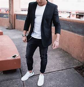 Casual black blazer outfit [ http//ift.tt/1f8LY65 ] #royalfashionist | Menu0026#39;s Fashion and style ...