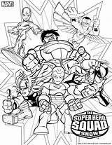 Coloring Superhero Pages Marvel Squad Wolverine Printables sketch template