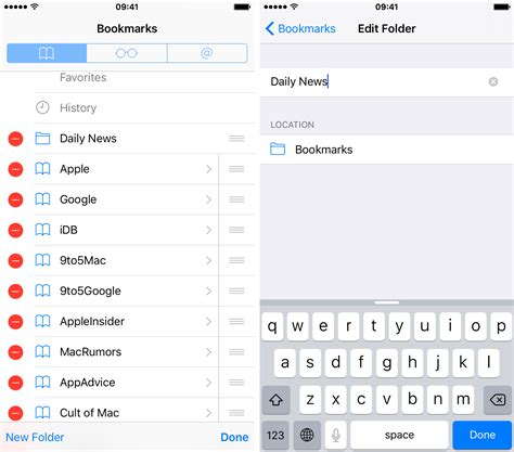 how to rename iphone how to use bookmark folders in safari