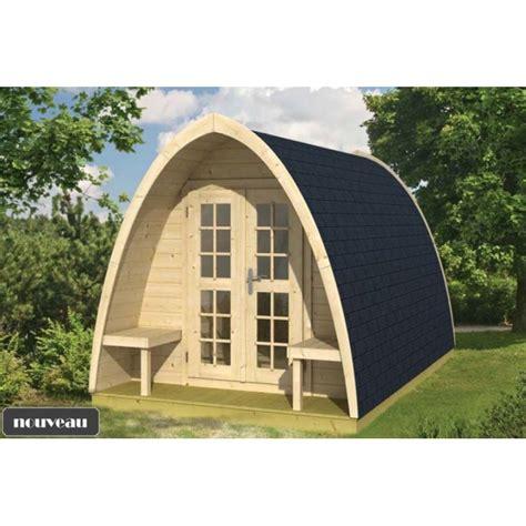 bureau de jardin en bois chalet bureau de jardin pod400 9m2 sapin du nord en kit