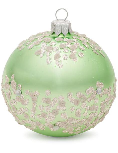 dagmara winter frost ornament 8cmbauble at david jones store christmas decorations baubles