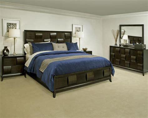 modern wood bedroom set ribbons  magnussen mg  set