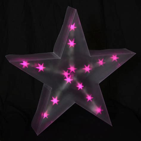 holographic led star light up 40cm battery christmas