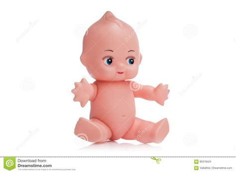 Cute Little Plastic Baby Doll With Blue Eyes Sitting. Isolated O Stock Photo Plastic Pollution In Oceans Facts Show About Surgery Gone Wrong Beehive Frames Measuring Cup With Lid Panels For Kitchen Walls Round Storage Containers Lids Why Can T You Recycle Installing Porch Posts