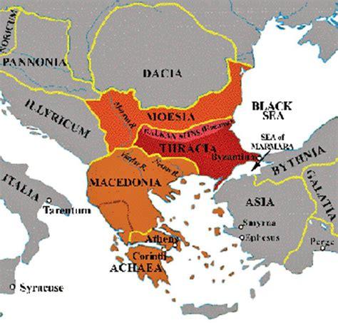 map  ancient thrace illustrating noricum pannonia