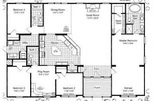 5 bedroom floor plans wide mobile home floor plans las brisas floorplan homes home floors