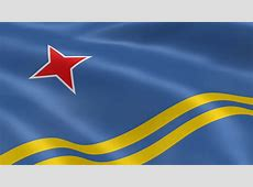 Aruban Flag In The Wind Stock Footage Video 813223