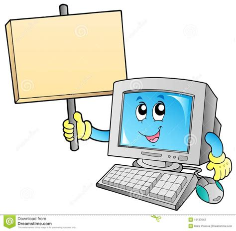 ordinateur de bureau blanc ordinateur de bureau avec le panneau blanc photographie