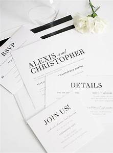 107 best black white weddings images on pinterest With elegant wedding invitations miami