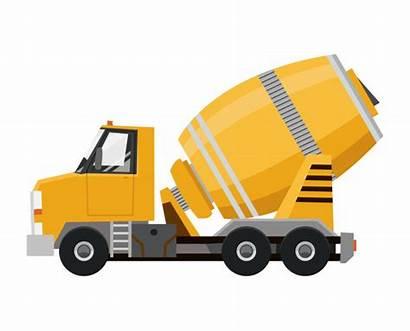 Camion Truck Concrete Mixer Yellow Betonmischer Vrachtwagen
