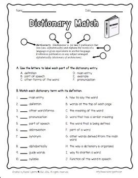 dictionary skills activities worksheets by rachel lynette tpt