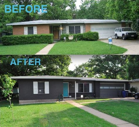 Right now our home is pretty much maintenance free and we really didn't want to trade that for all the upkeep of painted brick. Before and After | House paint exterior, Modern exterior, Ranch exterior