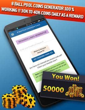 8ball pool free coins rewards apk free