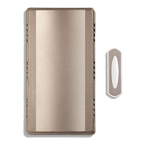 wireless door bells shop utilitech style selections nickel wireless doorbell
