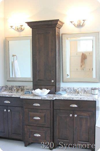 Bathroom Vanity Countertop Cabinet by I Like This Bathroom Vanity With Storage Between The Two