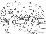 Coloring Winter Pages Season Printable Snowman Preschool Activity Kindergarten Children Worksheets Fun sketch template