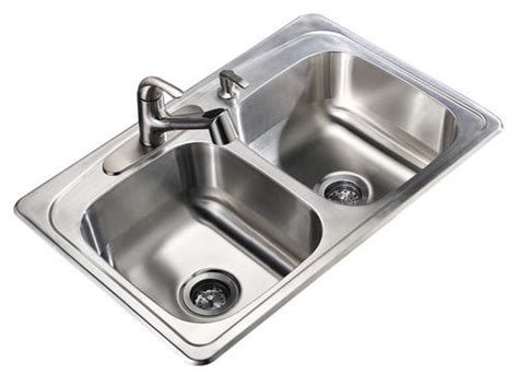 menards stainless steel sink tuscany 8 1 2 quot stainless steel double bowl kitchen sink