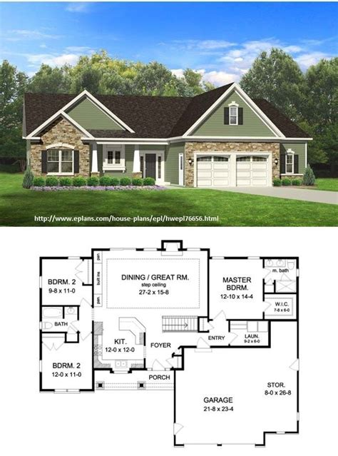 ranch style house plan  beds  baths  sqft plan    house plans ranch house
