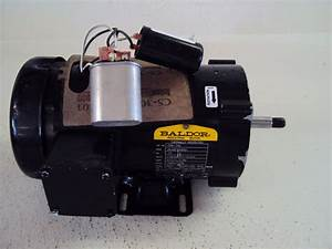 Baldor Industrial Motor Cpm Hp  13 V 110  220  115  230 Rpm 1425  1725 Fr 56cz Used